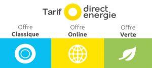 tarifs de direct energie